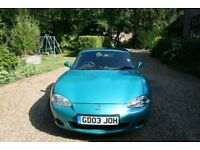 MAZDA MX5 only 36200 miles. One lady owner from new. 12 months mot. excellent condition