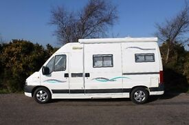 TRIGANO TRIBUTE 2-3 BERTH MOTORHOME 2.3 DIESEL, LOW MILEAGE, KITCHEN, SHOWER, TOILET, SOLAR PANEL,
