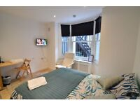 A newly refurbished large studio in West Kensington
