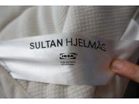 King size Ikea pocket sprung mattress. Memory foam topper. 200 x 160 x 26cms. Very good condition