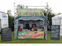 Volunteers at Shrewsbury Folk Festival on a Vegetarian/Vegan Food Stand August Bank Holiday Wkd