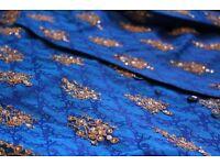 Blue Embroidered Shervani