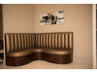 Corner seating Bench with fluted back