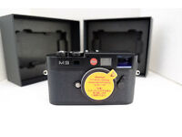 Leica M9 Full Frame Black Paint Digital Camera only 2554 shutter actuations, sensor upgrade - boxed
