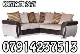 Brand New Black & Grey Or Brown/Beige Helix Sofa Available 09876