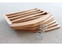 6 x 4-Bar Trouser Hanger Wardrobe Storage Solution Wooden Hanger Scarf Tie Organizer Multi Purpose