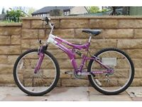 Challenge Dual Suspension Mountain Bike (in Purple)