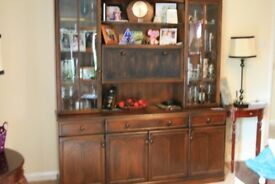 large lounge display cabinet , top seperates to aid transport .
