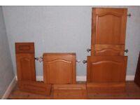 Wooden Kitchen Door Job Lot - Mickleover - 8 Cabinet Doors & 5 Drawer Fronts