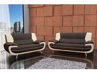 Brand new Black/white, black/red, brown/cream or full black sofa sets and corner suites
