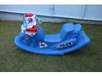 Little Tykes Police Baby Rocker with Sound and Flashing Lights