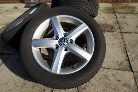 """VW Golf MK6 - 16"""" Winter Wheels & Tyres Set - VW OEM Aspen Alloys"""