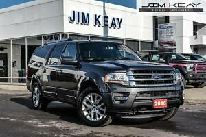 2016 Ford Expedition LIMITED MAX 4X4 W/MOONROOF, NAVIGATION & 8