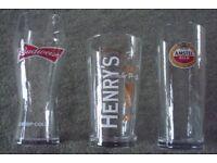 PINT GLASSES VARIOUS DESIGNS, NEW