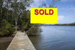 SOLD  22 ACRES ABSOLUTE RIVER FONT...CLOSE TO BEACH
