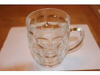 DIMPLED PINT BEER GLASS WITH HANDLES