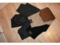 Brand new 6 pairs of designer jeans and trousers