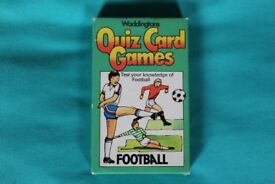 Waddingtons's Football Quiz Cards Game.