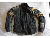Used BMW Rallye 3 suit, size 46, Black/Yellow, Good condition