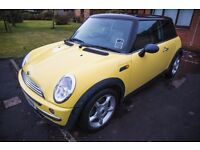 Fantastic Yellow Mini Cooper Hatchback 1.6 2002 3dr Petrol Manual