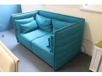 Modern Designer Workspace Meeting Room Two Seat Cubical Office Sofa Blue Colourful