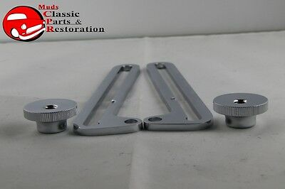 28-32 Ford Closed Car Pickup Truck Chrome Windshield Slide Swing Arms & Nuts