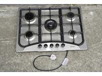 5 ring gas hob with wok burner - full working order