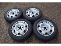 "17"" VW Transporter T5 T6 Steel Wheels Goodyear Cargo Vector 215/60R17C Tyres"