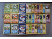 144/150 Almost complete Pokemon Card gen 1 Pokedex Base Jungle Fossil sets
