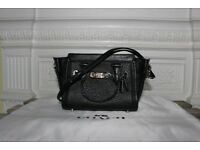 Coach Swagger 15 Mini Black Pebbled Leather Bag Handbag Crossbody Shoulder Purse Clutch Designer