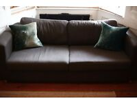 Habitat sofabed 3-4 seater, charcoal grey, good condition
