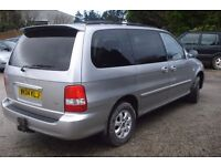 kia Sedona le MPV 2004-04-plate, 7 seater 2900cc diesel, new MOT upon purchase, 91,000 miles,