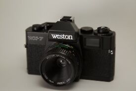 Weston WX-7 50mm lens, vintage film camera, completely automatic