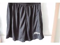 12 pairs black Mitre Aren Football Shorts – perfect for a U12 youth team