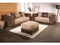 **7-DAY MONEY BACK GUARANTEE!**- Byron 3 and 2 Sofa Set or Corner Unit - SAME/NEXT DAY DELIVERY!