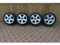 "18"" Newly Refurbished Alloy Wheels X4 Audi/Volkswagen/Skoda + Brand New Avon ZZ5 Tyres."