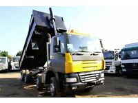 2006 DAF CF 85.340 8X4 STEEL BODY THOMPSONS TIPPER TRUCK SCANIA VOLVO MAN 6X4 TIPPER FOR SALE LONDON