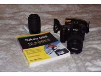Nikon D90 with 18-105VR and 55-200VR lens - Semi Pro Body - excellent condition