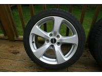 "Set of 4 17"" Borbet CC wheels and Winter Tyres for BMW"