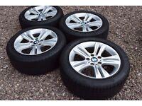 """Genuine 17"""" BMW 3 Series F30 F31 Alloy Wheels 225/50R17 Bridgestone & Goodyear Run Flat Tyres"""