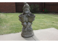 Stone dwarf garden ornament / flower planter