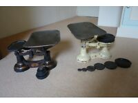 Kitchenalia - 2 x Weighing Scales with weights