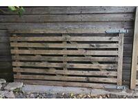9-bar wooden gate - free!