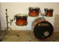 Tama Starclassic Dark Cherry Fade Lacquered ~ 4 Piece Drum Kit Shell Pack ( 22in Bass ) Drums Only