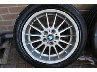 "BMW E38 E39 18"" 8J ET20 STYLE 32 RADIAL FRONT ALLOY WHEEL 36111091990 DEEP DISH"