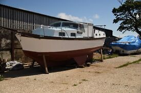 36ft motor sailor ketch Houseboat liveaboard motor sailor project