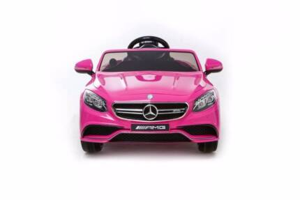 Licensed Mercedes Benz S63 AMG Kids Electric Ride On Car - Pink