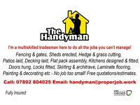 Reliable, skilled handyman service