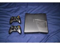 Xbox 360 250GB with 2 controllers, kinect and 19 games