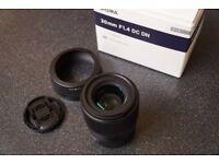 Sigma 30mm F1.4 Sony E Mount Lens